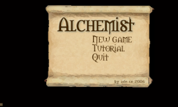 Achemist menu
