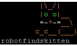 robot find kitten screen image n001